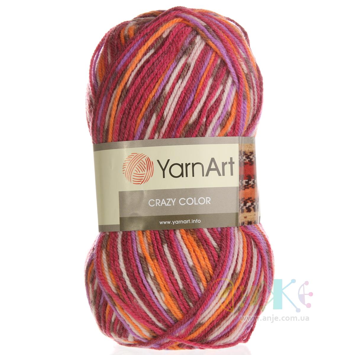 Yarnart crazy color пряжа что связать с нее